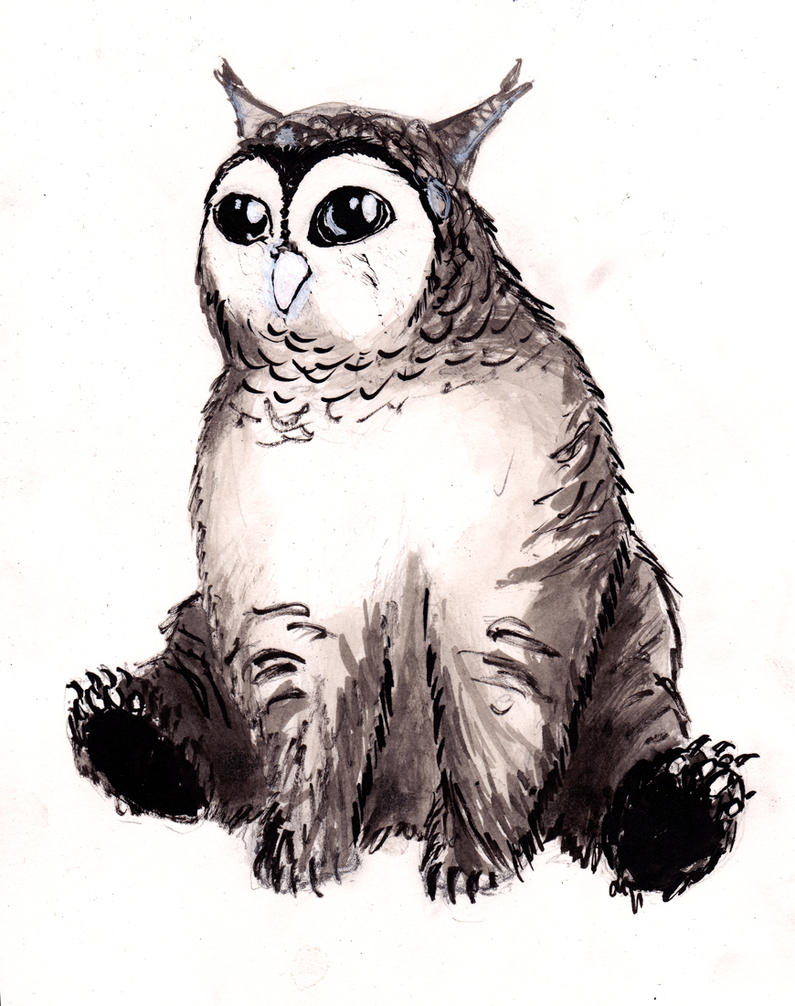 Owlbear cub by Samiira-Sikuriina
