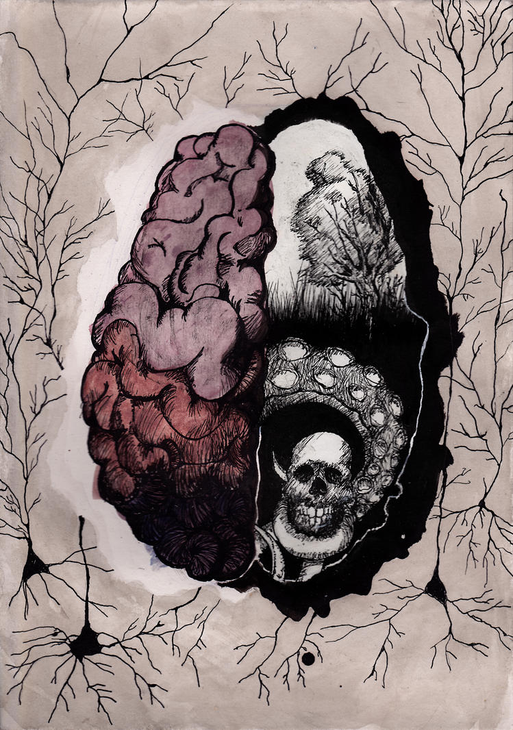 cerebral hemispheres by Samiira-Sikuriina