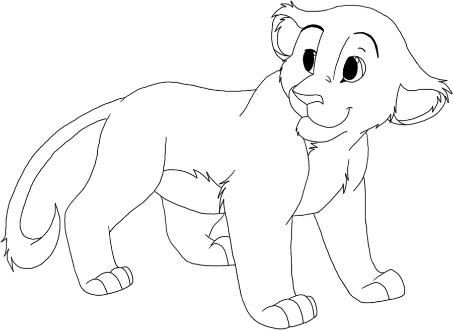 Line Drawing Lion : Lion cub line art by sianycub on deviantart