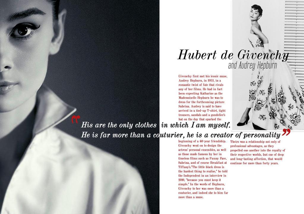 Givenchy and Audrey Hepburn - Magazine Layout by Sidera1993