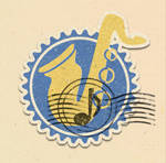 Saxophone Stamp Design