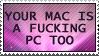 Mac equals PC by paramoreSUCKS