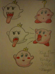 King Boo and Kirby by mango-chan88