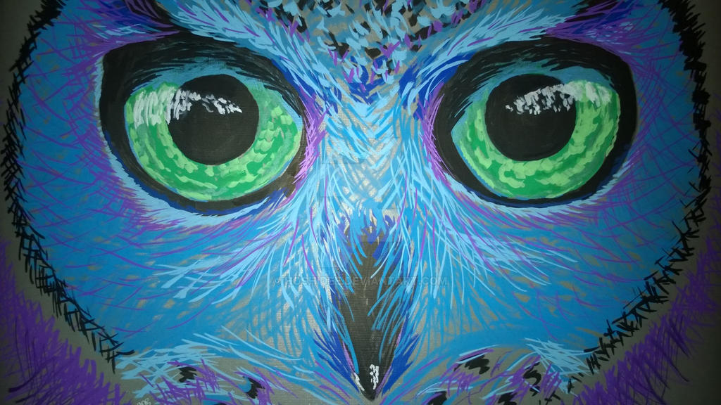 Owl Eyes 2 (Bright Eyes) by HoshiDee