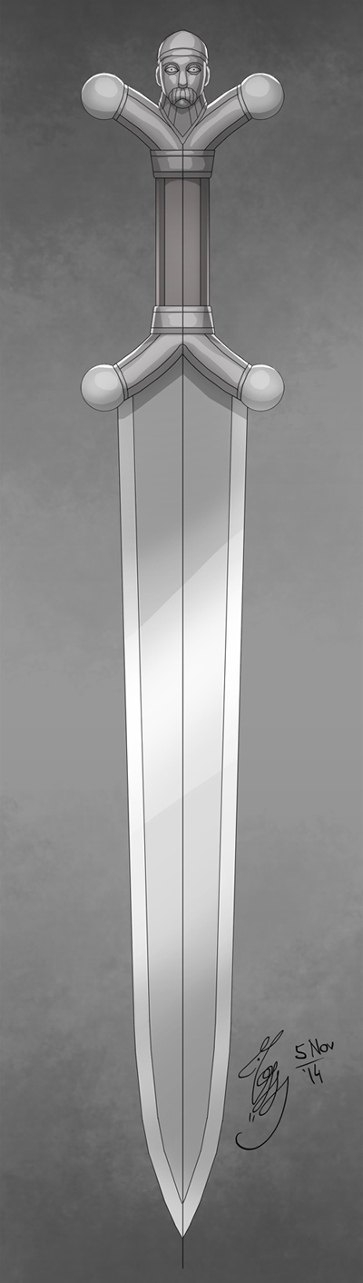 Celtic Sword Design by YelZamor