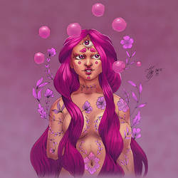 Pink bubbles by YelZamor
