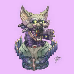 Gun Kitten by YelZamor