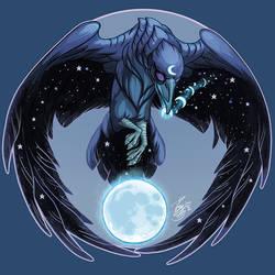 Midnight Moon Raven