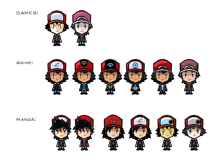Pokemon all red variantions sprites by FelipeCereda on ...