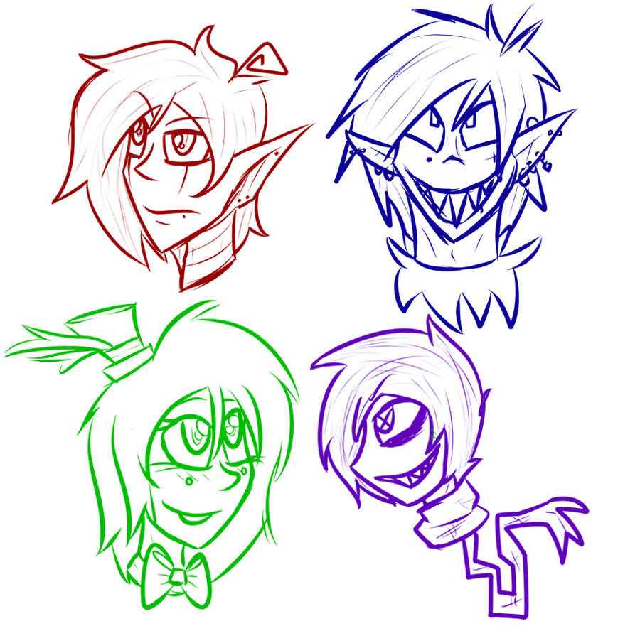 Quick doodles by BloodyxJezter