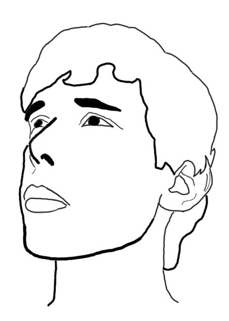 self portrait outline by wreckingmachine1 on deviantart. Black Bedroom Furniture Sets. Home Design Ideas