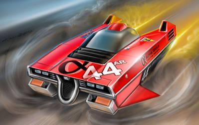 No.44 Alpha Plus - Astro Racer by alien99