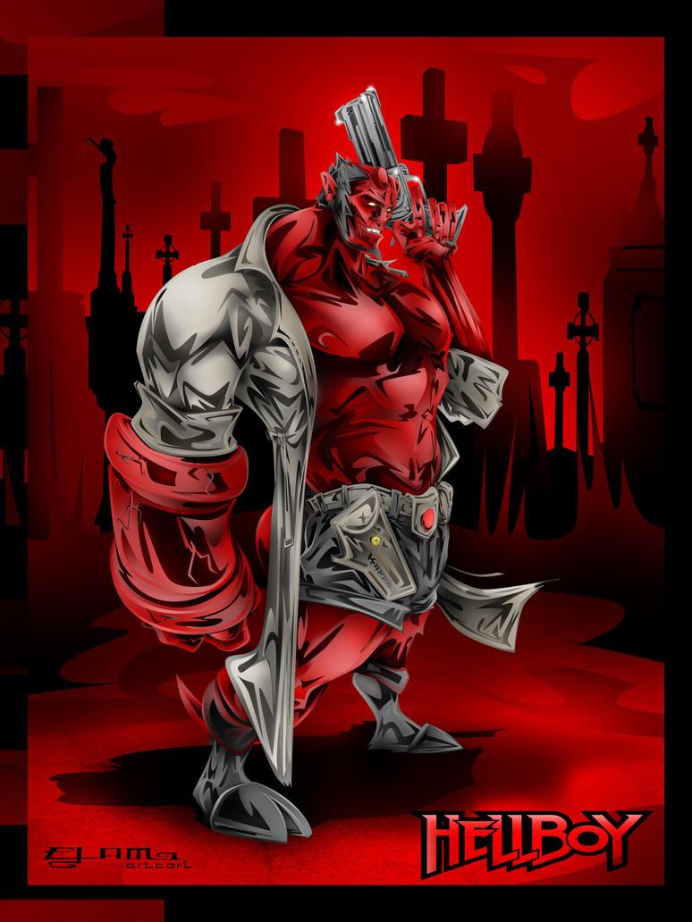 Hellboy by KAPPA-elamARTcore