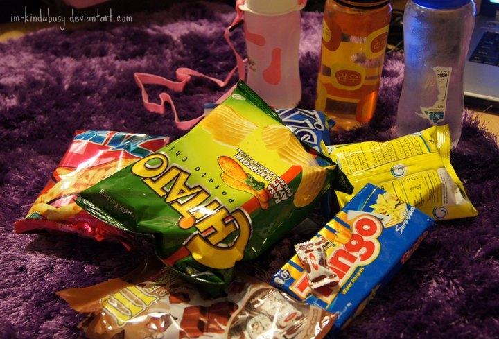 sleepover snacks by im-kindabusy on DeviantArt