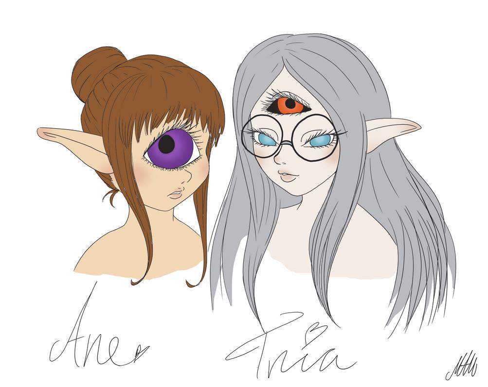 Ane and Tria by Marha