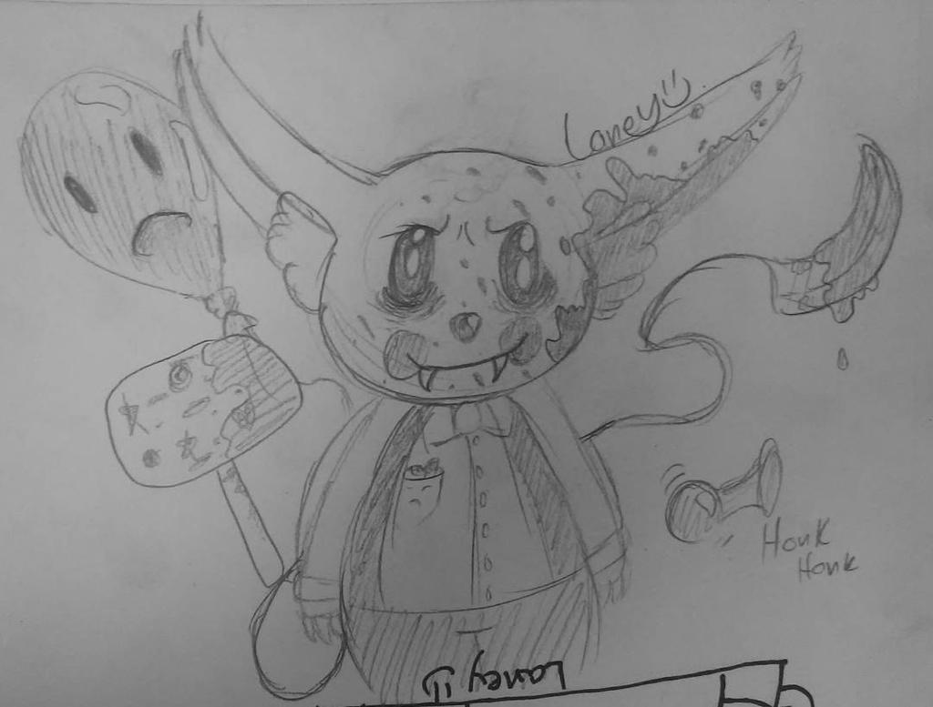 free creepy cute clown monster adopt by laneypumpkins