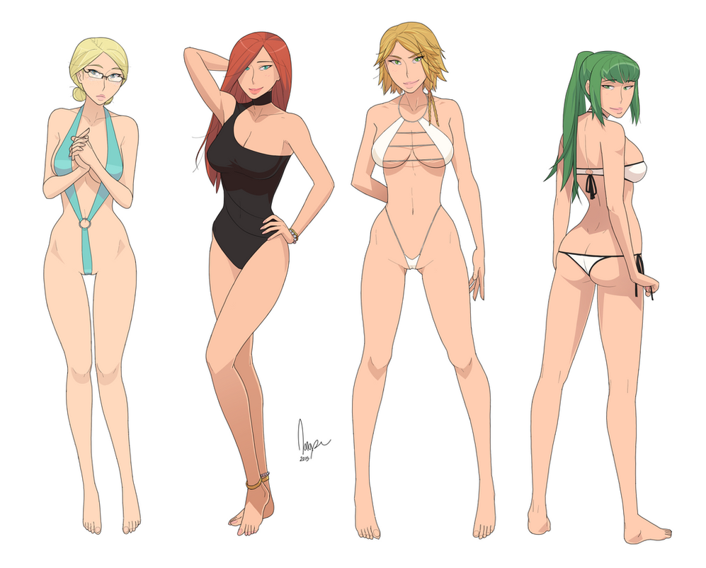 Freya, Ruse, Fedora, and Ivy by ad2010