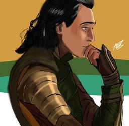 Loki Thinking by AbiJ05