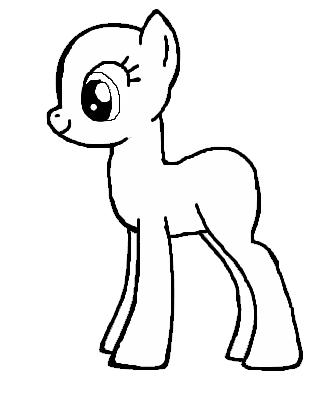 MLP Basic Pony Base By Bloostormbrony