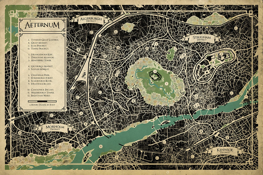 Aeternum Map of the Strigham District by Fragged-Empire