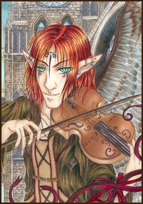 Violinist by Sokura