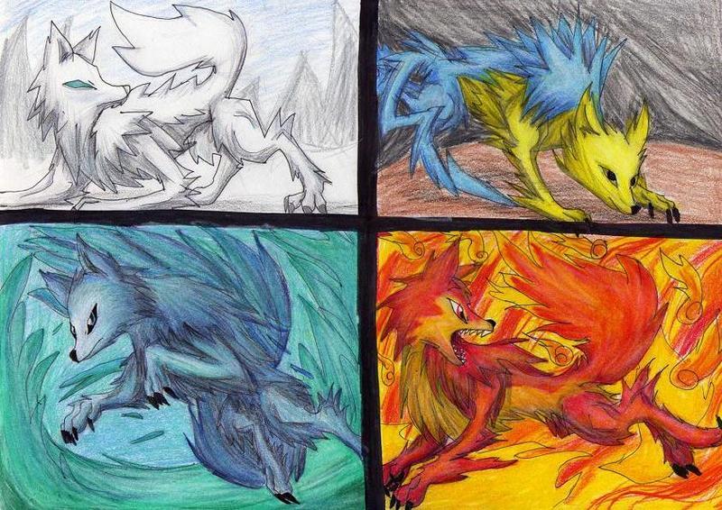 Four Elements Art : Four element wolf by bunnygirl51728 on deviantart