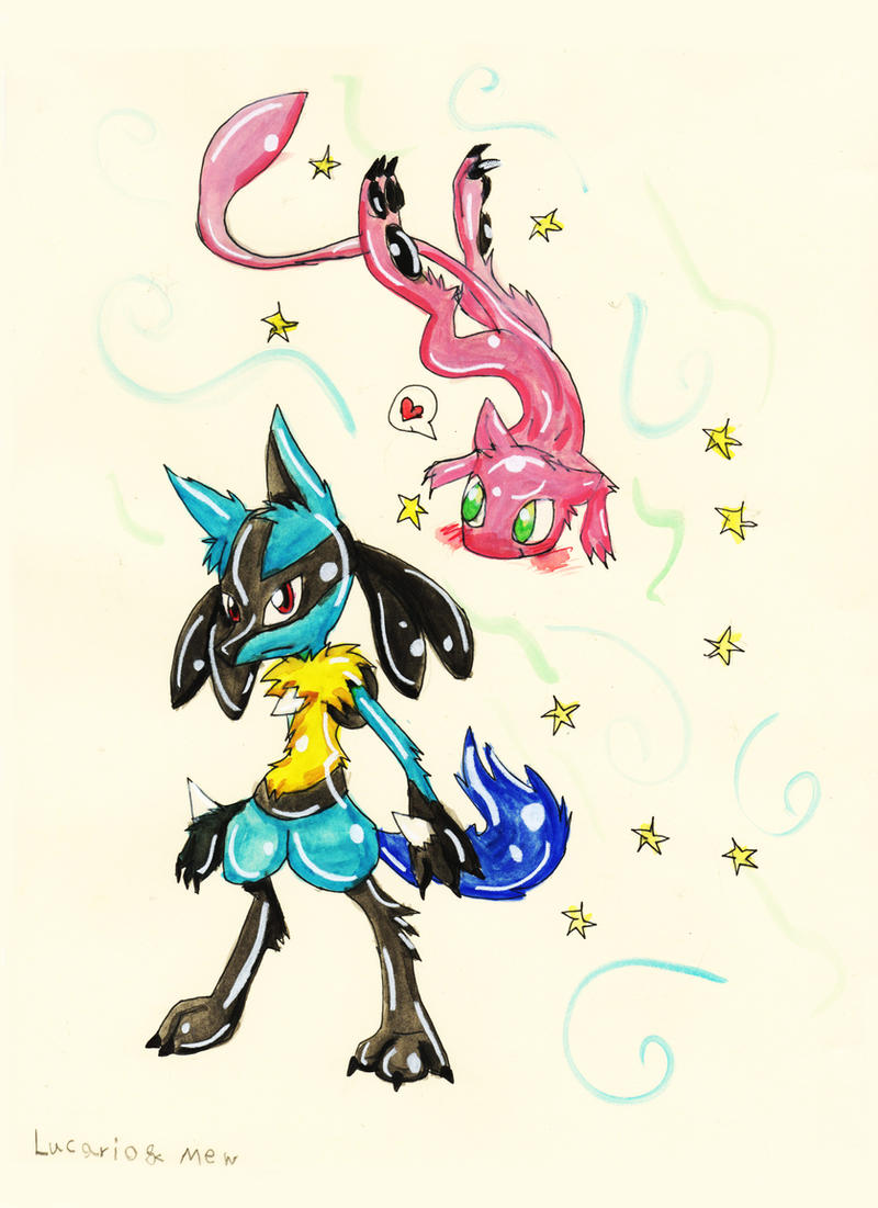 Lucario And Mew by Bunnygirl51728 on DeviantArt Mew And Lucario