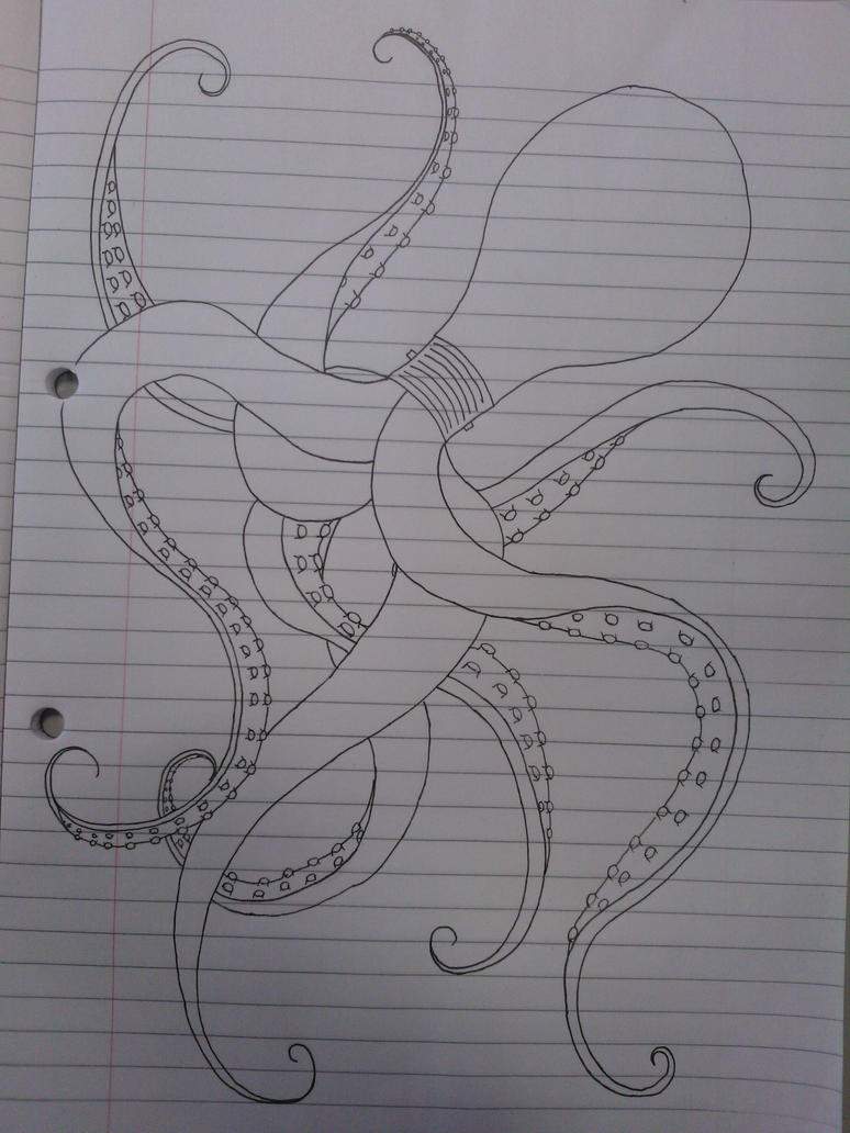 Uni Doodles #2 Octopus by WolfieSpirit9