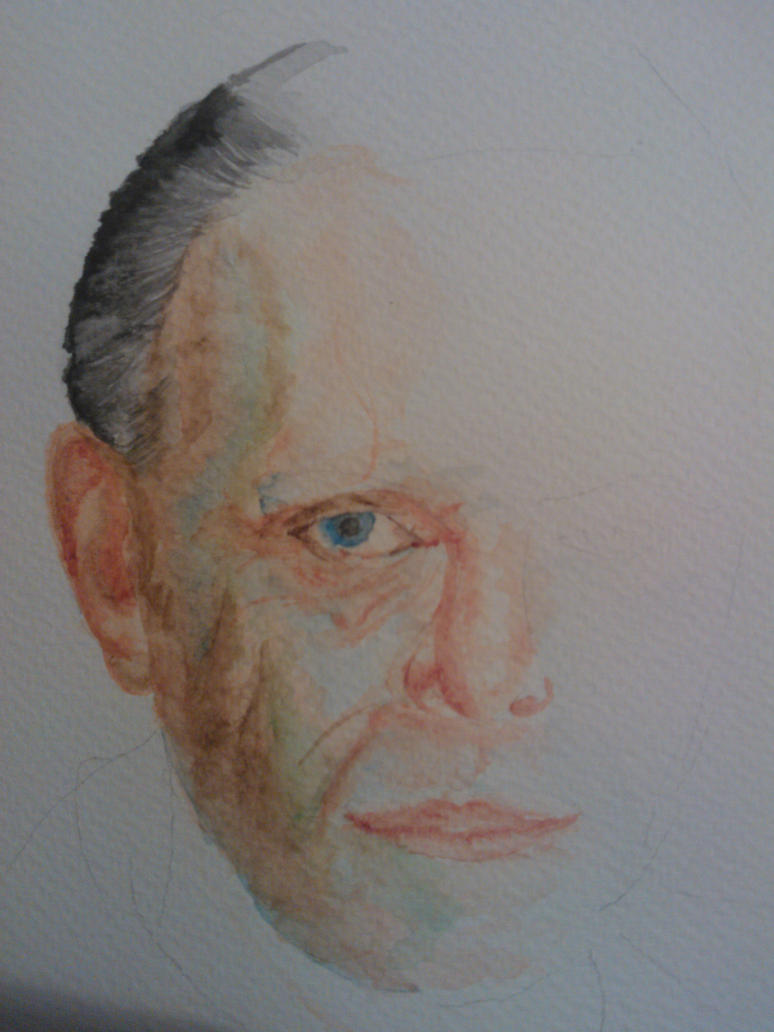 Hannibal Lecter Watercolour by WolfieSpirit9