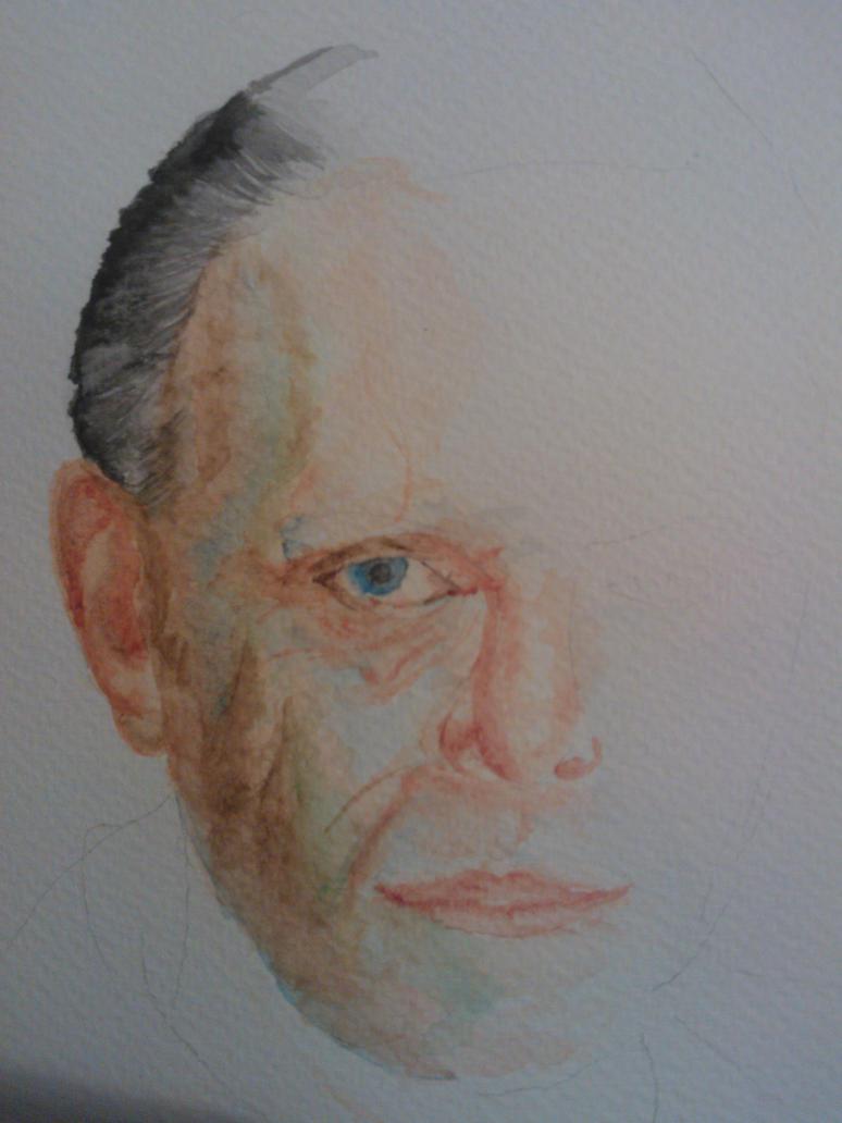 Hannibal Lecter Watercolour by WolfieSpirit9