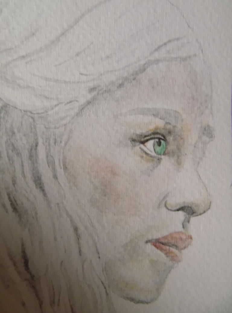 Daenerys Targaryen Watercolour by WolfieSpirit9