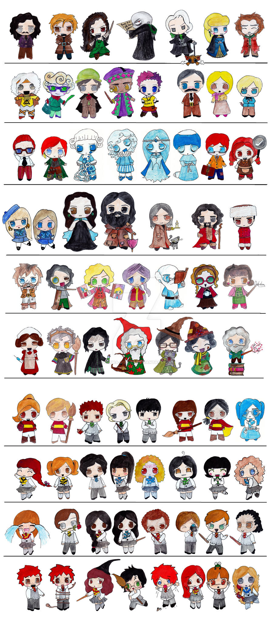 harry potter chibi bundle by laura bosley on deviantart Scattered Books Clip Art Book Clip Art Black and White