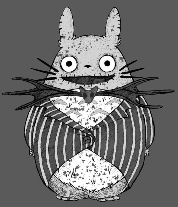 My nightmare Totoro by Laura-Bosley