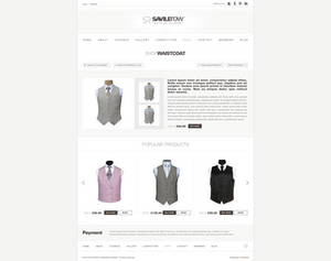 Website design for Savile Row