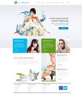 Website design for Aqua by evidentart
