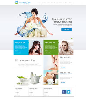 Website design for Aqua