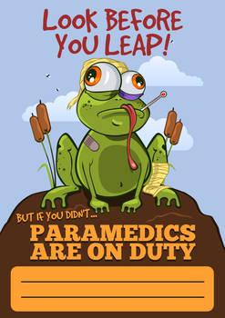 Injured froggie