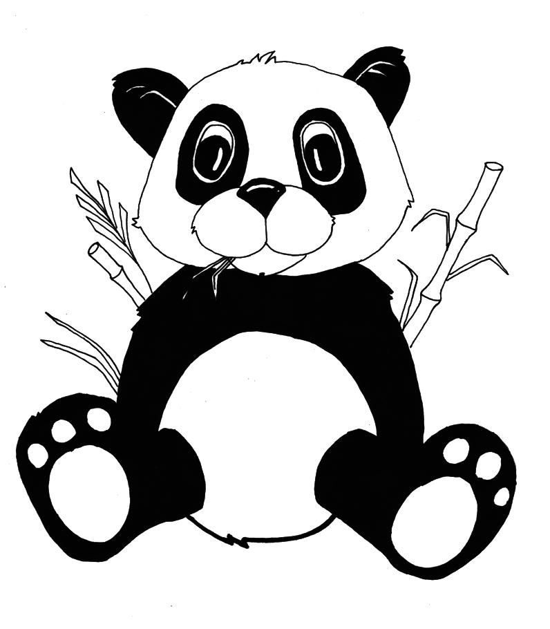 Vistoso Bebé Panda Bear Para Colorear Cresta - Dibujos Para Colorear ...