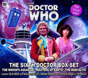 The Sixth Doctor Box Set Cover REDUX by Cotterill23