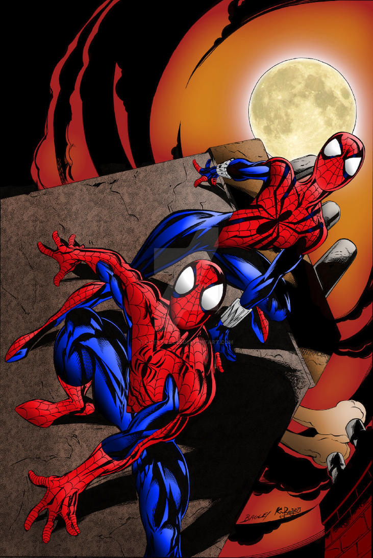 Spider-Man and Spider-Girl | Colourised by Cotterill23
