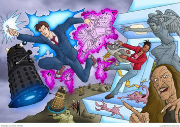 Tenth Doctor Adventures | Colourised by Cotterill23