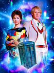 The Fifth Doctor and Tegan by Cotterill23