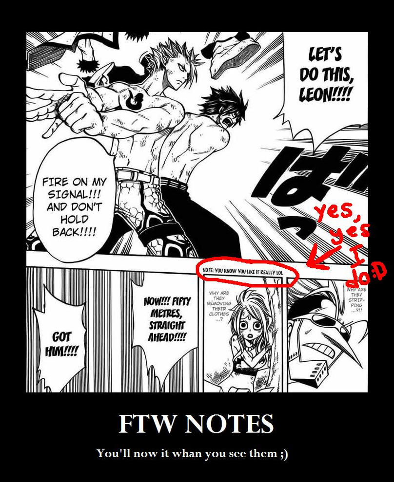 T : Fairy Tail 6 FTW Notes by DRUNKENunicorn756