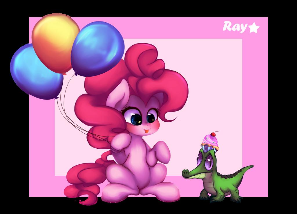 Pinkie Pie and Gummy by adventurepainter18