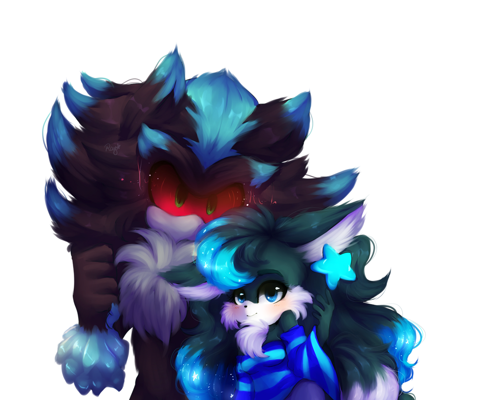 .:Art Trade:. Melody n Mephiles by adventurepainter18