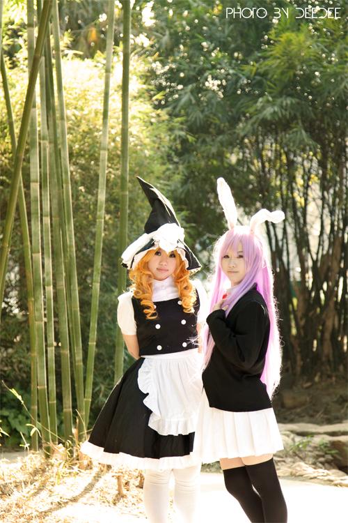 Touhou_Marisa and Reisen by WinryDeeDee