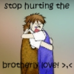 Stop hurting brotherly love by Tangerine-Doll