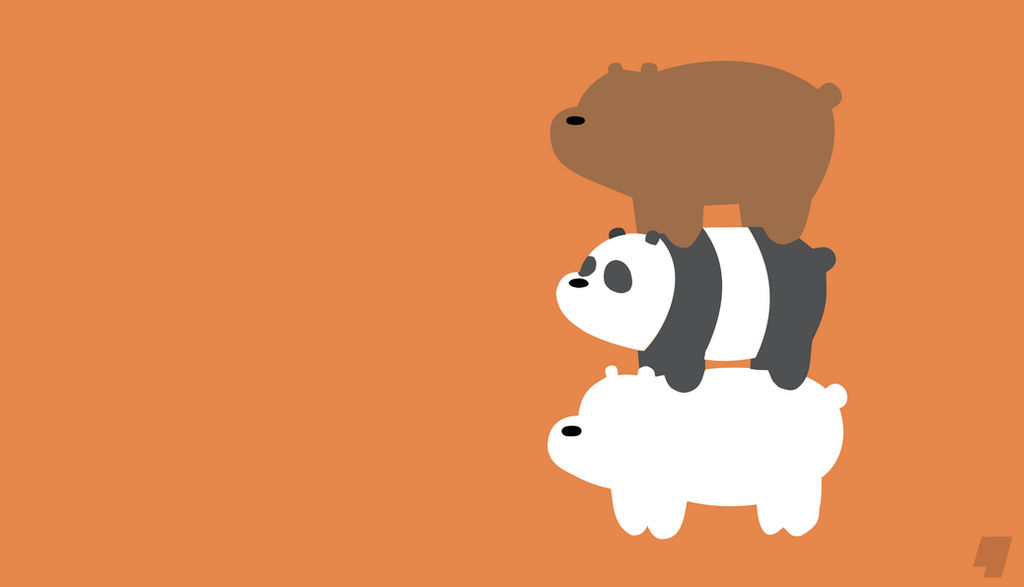 Minimalist Wallpaper - We Bare Bears by AnfoFlash on ...