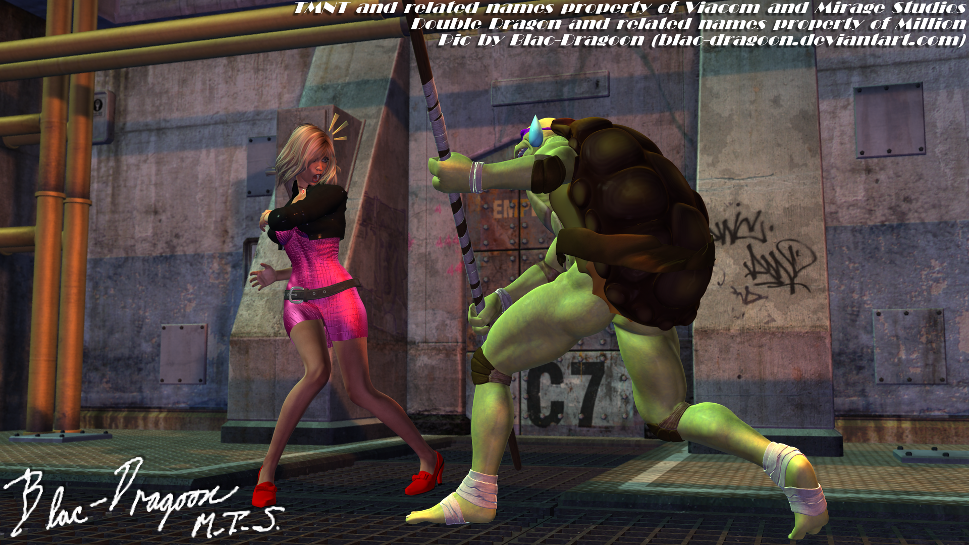 Tmnt Vs Double Dragon Marian Encounters Donny By Blac Dragoon On
