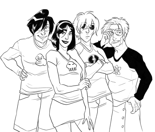 Happy Halloween from the Aether Cast by hyperionwitch